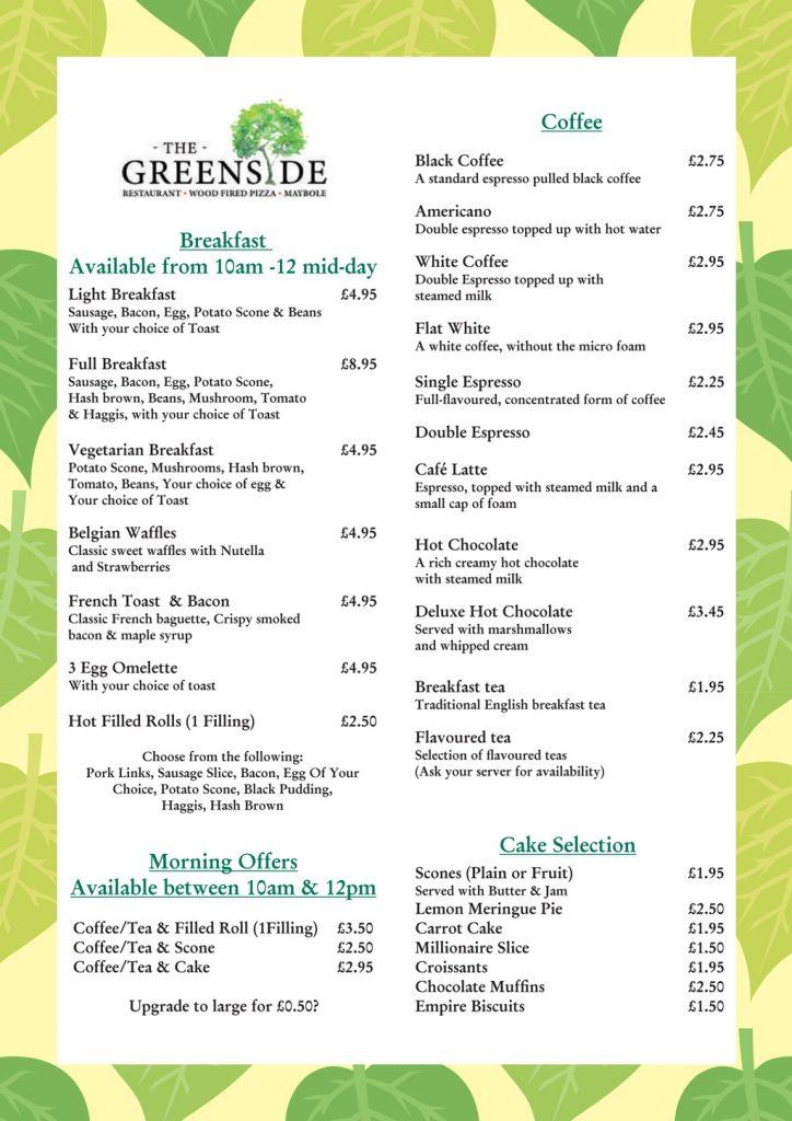 the greenside breakfast menu v1