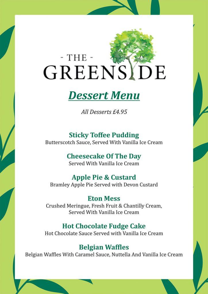 the greenside dessert menu v1