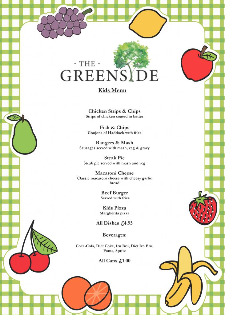 the greenside kids menu